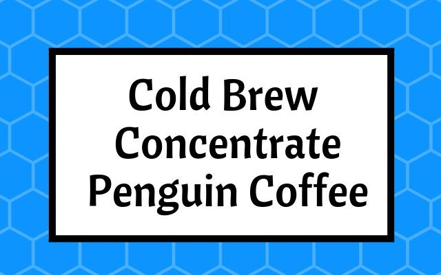 penguin coffee cold brew